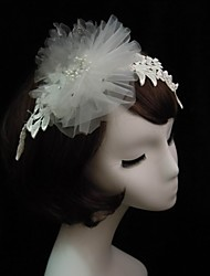 Women's Lace/Tulle/Imitation Pearl Headpiece - Special Occasion Headbands