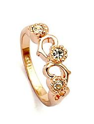 Fashion or / platine anneau plaqué
