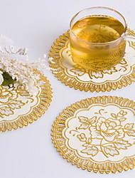 Muito ouro ao Bloqueio Favors Coaster PVC (conjunto de 6 peças)