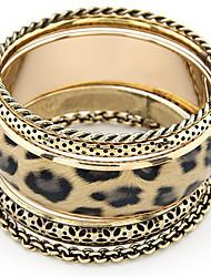 Vintage, mergulhados Bangles Leopard