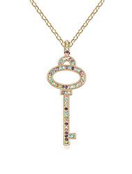 Позолоченный сплав Циркон ожерелье комбинацию клавиш (разных цветов)