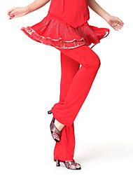 Dancewear Viscose Latin Dance Practice Bottom For Ladies More Colors