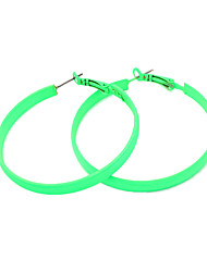 Earring Hoop Earrings Jewelry Women Party / Daily Alloy Rose / Black / Yellow / Blue / Orange / Green