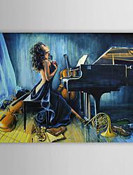 Pintados à mão pintura a óleo de pessoas nuas, com quadro esticado 1306-LS0293