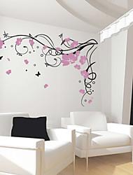 Papillon de fleur de vigne Wall Sticker