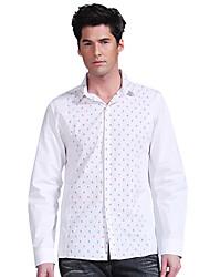 Mannen Bloem shirt met lange mouwen