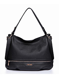 Nucelle Cow Leather Embossing Dual Use Black Shoulder Bag