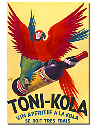 Printed Canvas Art Vintage Toni-Kola by Vintage Posters with Stretched Frame