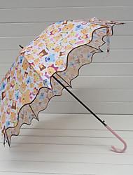 Волнистые Отделка медведь мультфильм образцу Сладкий Umbrella Лолита