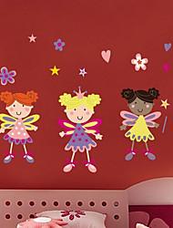 Beautiful Flower Girls Wall Sticker