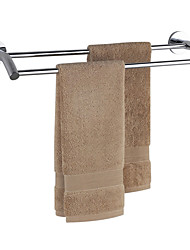 Chrome Finish Bathroom Brass Double Bar Towel Rack