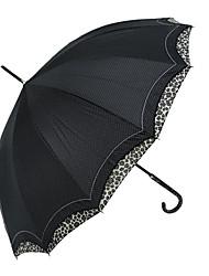Leopard guarnição Polk Dots Punk Lolita Umbrella