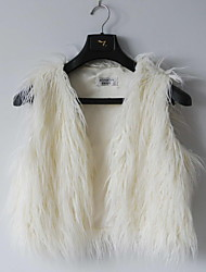 Fur Vest With Stylish Collarless In Faux Fur Casual/Party Vest(More Colors)