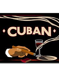 Gedruckt Leinwand Kunst Vintage Cuban von Vintage Apple-Sammlung mit gestreckten Rahmen