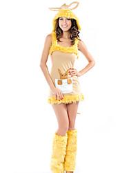 Costume Canguru Cutie Mulheres Amarelo Poliéster