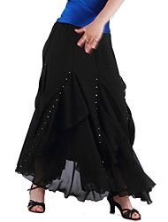 Ballroom Dance Skirts Women's Training Chiffon As Picture Modern Dance Natural