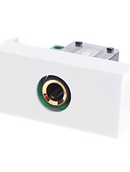 6.35mm Audio Post Two-Piece Inset Wall Plate 6.35mm Audio to Leadx4 - Welding Module