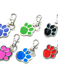 Fashionable Footprint Pattern Metal Pet Tag for Dogs - 1 PC/PACK(3.5cm,Random Colors)