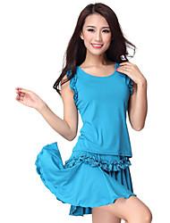 Ropa de moda viscosa Latin Dance falda para las damas más colores