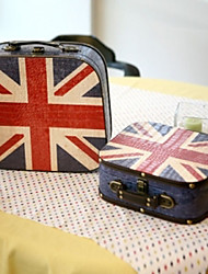 Vintage Union Jack Pattern Suitcase