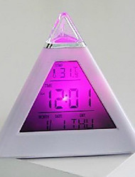 Creative Pyramid Design LED Alarm Clock with Thermometer