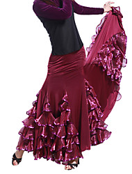 Performance Dancewear Viscose and Tulle Modern Dance Skirt For Ladies