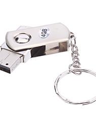 4GB Rotate Metal Material Mini USB Flash Drive