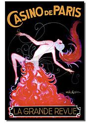 Gedrukt op doek Vintage Casino de Paris door Vintage Apple Collection met gestrekte frame