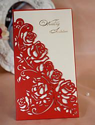 Format Enveloppe & Poche Invitations de mariage 50-Cartes d'invitation Style classique Style floral Papier durci 21.5*11.5cm