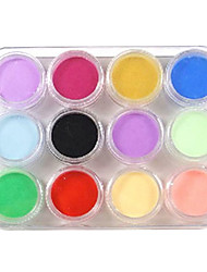 12 Color Nail Art Sculpture Carving Acrylic Powder 135g