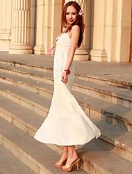 Enrole elásticas elevadas maxi vestidos da cintura das mulheres