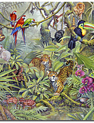 Printed Canvas Art Animal Jungle by Tim Knepp with Stretched Frame