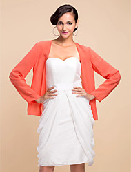 Party/Evening Chiffon Coats/Jackets Long Sleeve Wedding  Wraps