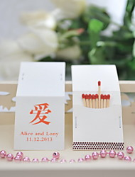 Wedding Décor Personalized Matchbooks - Love Symbol (Set of 50)