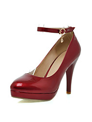 Sexy Patent Leather Stiletto Heel Pumps With Buckle Casual Shoes(More Colors)