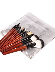18Pcs Professional High Quality Cosmetic Brush with Fashion Silver Package