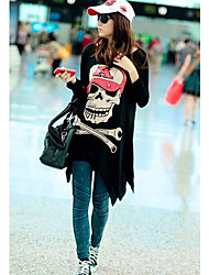 Le crâne de la femme Imprimer desserrent t-shirts