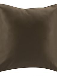 """18 """"carré polyester brun coussin décoratif avec insert"""