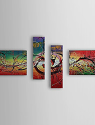 Hand Painted Oil Painting Abstract Set of 4 1307-AB0474