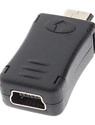 Mini USB Female to Micro USB Male Charger Adapter