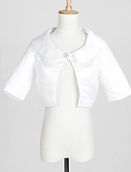 Wedding  Wraps Coats/Jackets Half-Sleeve Satin White Wedding / Party/Evening / Casual T-shirt Clasp