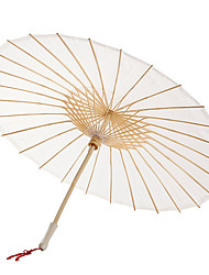 Solid Color Cotton Umbrella With Tassels (More Colors)