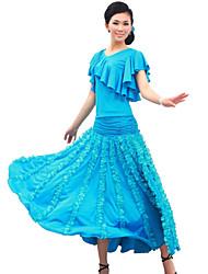 Dancewear Viscose And Tulle With Ruffles Modern Dance Outfits for Ladies