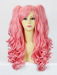 Lolita Wigs Sweet Lolita Lolita Medium / Curly Pink Lolita Wig 50 CM Cosplay Wigs Solid Wig For Women