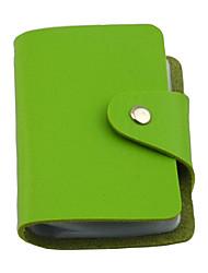 24-слоты унисекс красочный держатель PU кожаный кредитной карты
