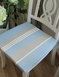 European Style Stripe Pattern Polyester Chairpad