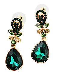 Gold Plated Alloy Zircon Waterdrop Pattern Earrings(Assorted Colors)