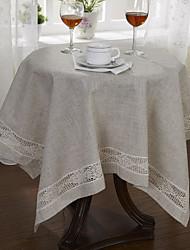 Beige Linen Square Table Cloths