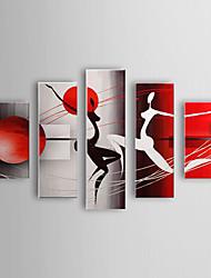 pintadas las personas pintura al óleo a mano de baile mujer abstracta marco estirado conjunto de 5 1307-pe0295