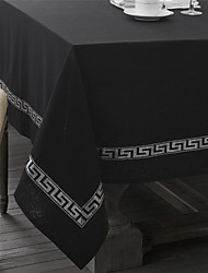 Classic Silver Printed Table Cloth